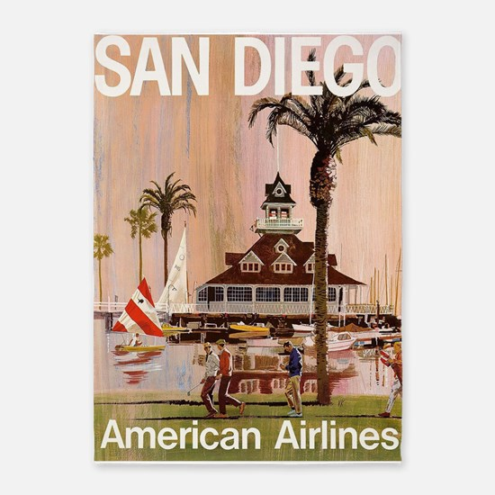 San Diego, California, Vintage 5'x7'area R