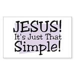 Habu's Simple Jesus Sticker