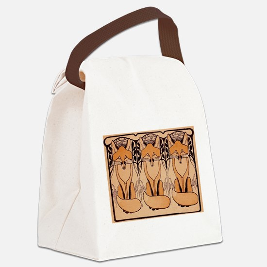 Three foxes Canvas Lunch Bag