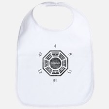 2-Dharma Clock Baby Bib