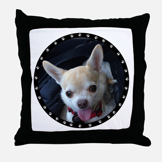 Personalized Paw Print Throw Pillow