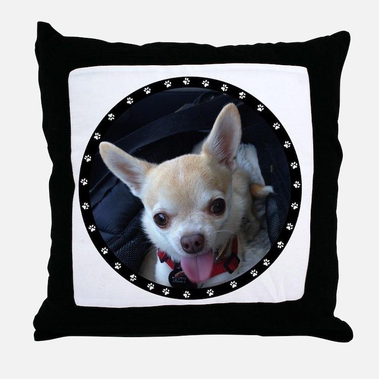 Personalized Paw Print Throw Pillow