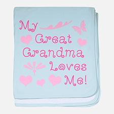 GreatGrandma Loves Me baby blanket