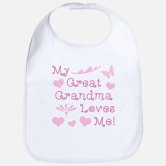 GreatGrandma Loves Me Baby Bib
