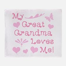 GreatGrandma Loves Me Throw Blanket
