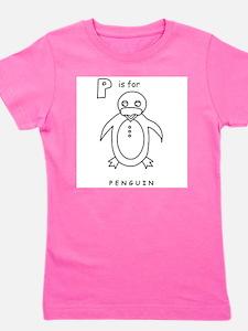 P is for Penguin Kids T-Shirt