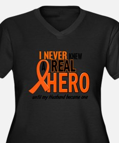 Never Knew A Hero 2 ORANGE (Husband) Plus Size T-S