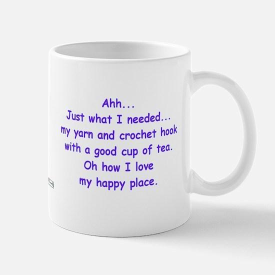 Crochet And Tea In Purple Mugs