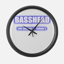 Basshead Life Begins@ 150db's Blu Large Wall Clock