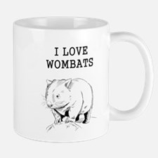 I Love Wombats Mugs