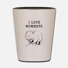 I Love Wombats Shot Glass