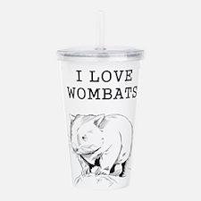 I Love Wombats Acrylic Double-wall Tumbler