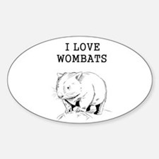 I Love Wombats Decal