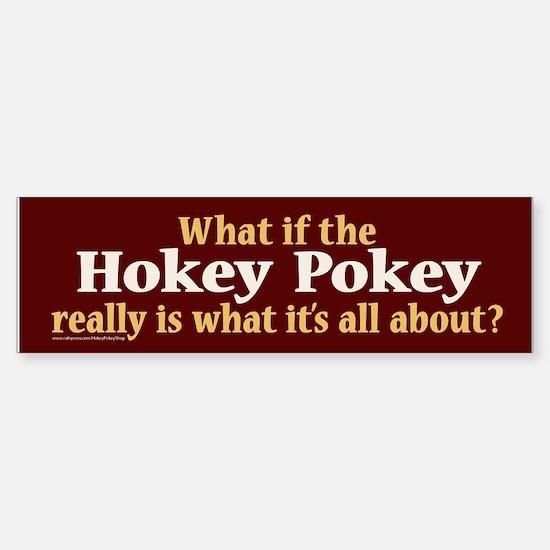 What if the Hokey Pokey Bumper Car Car Sticker