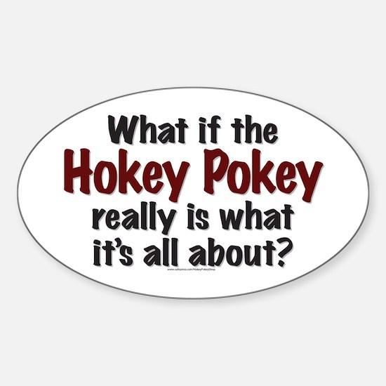 Hokey Pokey Sticker (Oval)
