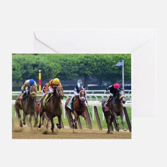 Cute Horse racing Greeting Card
