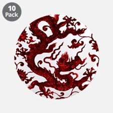 """Chinese Red Dragon 3.5"""" Button (10 pack)"""