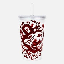 Chinese Red Dragon Acrylic Double-wall Tumbler