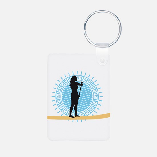 stand up paddling Keychains