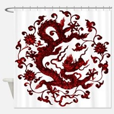 Chinese Red Dragon Shower Curtain