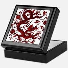 Chinese Red Dragon Keepsake Box