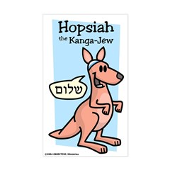 Hopsiah the Kanga-Jew Decal