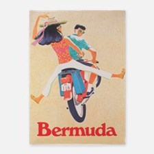 Bermuda,scooter; Vintage Travel 5'x7'area