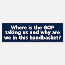 Republican handbasket Bumper Bumper Stickers