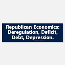Republican Economics Bumper Bumper Bumper Sticker