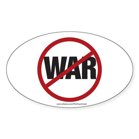 Anti-war Oval Sticker