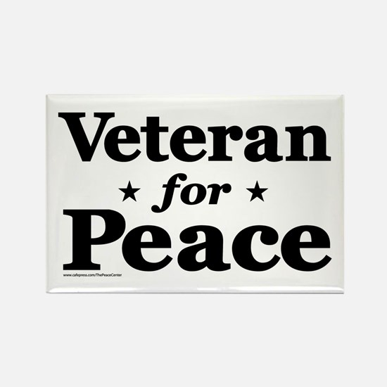 Veteran For Peace Rectangle Magnet (10 Magnets