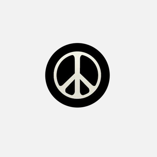 Classic Peace Symbol Mini Button (10 Pack)