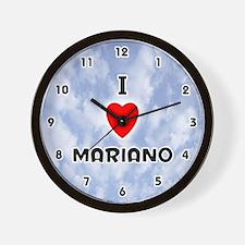 I Love Mariano (Black) Valentine Wall Clock