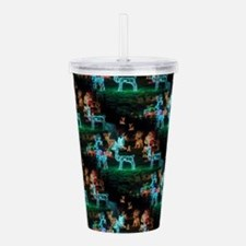 christmas lights Acrylic Double-wall Tumbler