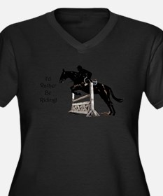 I'd Rather Be Riding Horse Plus Size T-Shirt
