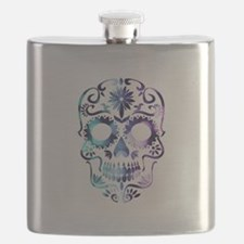 Blue & Purple Sugar Skull Flask