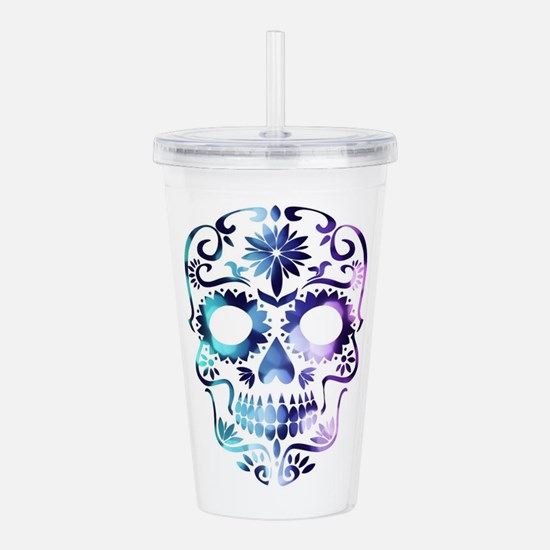 Blue & Purple Sugar Sk Acrylic Double-wall Tumbler