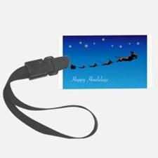 Santa and Flying Wieners Luggage Tag