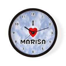 I Love Marisa (Black) Valentine Wall Clock