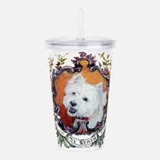 West Highland White Te Acrylic Double-wall Tumbler
