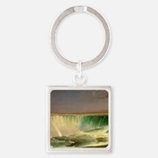 Niagara Falls by Frederic Edwin Church Keychains