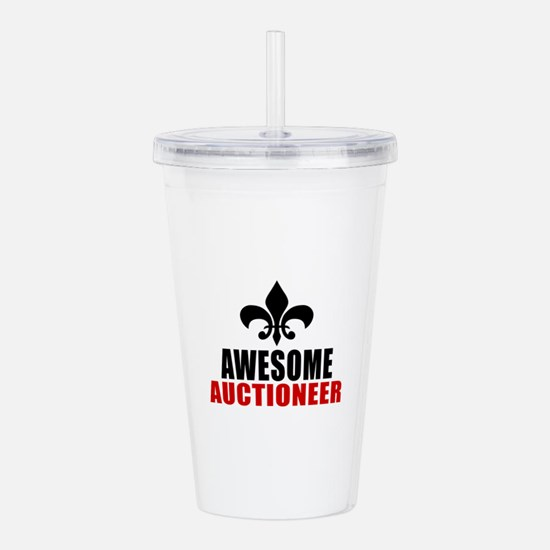 Awesome Auctioneer Acrylic Double-wall Tumbler