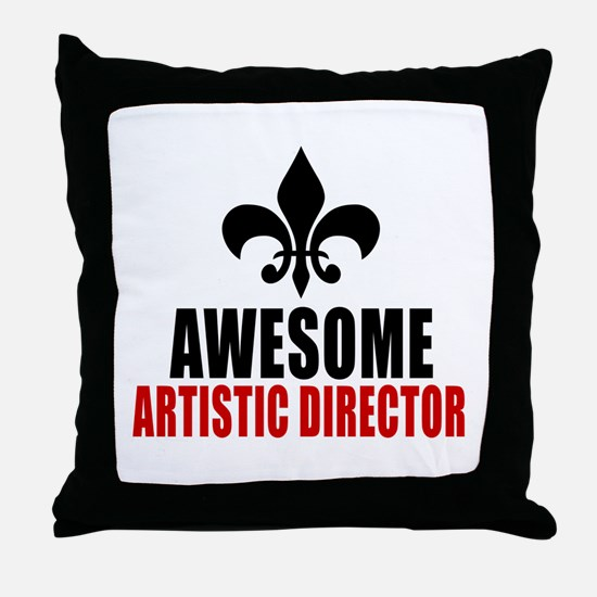 Awesome Artistic director Throw Pillow