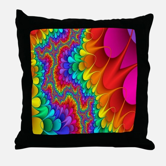 Funny Primary colors Throw Pillow