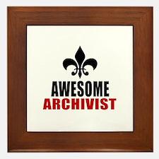 Awesome Archivist Framed Tile