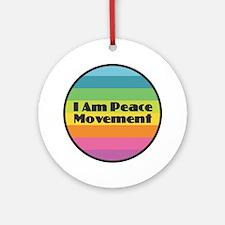 I Am Peace Movement Round Ornament