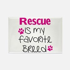 Cute Rescued is my favorite breed Rectangle Magnet