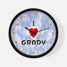 I Love Grady (Red/Blk) Valentine Wall Clock