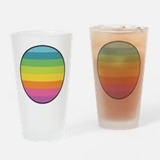 Rainbow Circle Drinking Glass