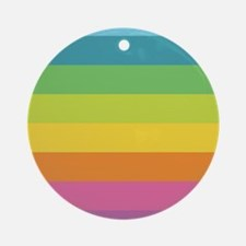 Rainbow Circle Round Ornament